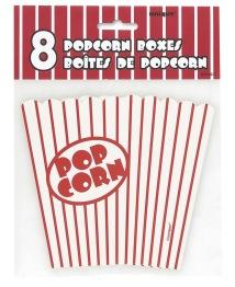 Popcornbox 8p Red striped -