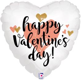 Folieballong 45cm Rose gold Valentine's heart -