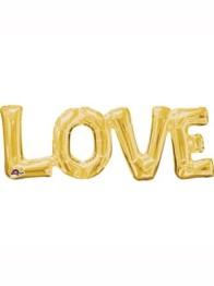 Folieballong Gold Love (63 x22cm) -