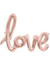 Folieballong Rose gold love -