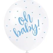 Ballonger 30cm 5p Pearl Oh baby blue
