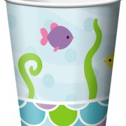 Pappersmuggar 266ml 8p Mermaid friends
