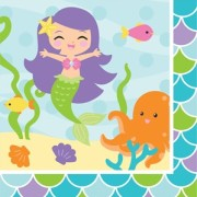 Servetter 33x33cm 16p Mermaid friends