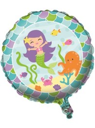 Folieballong 45cm Mermaid friends -