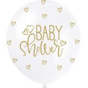 Ballonger 30cm 5p Pearl baby shower gold