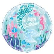 Folieballong 45cm Mermaid party