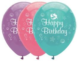 Ballonger 6p Mermaid happy birthday -