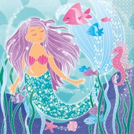 Servetter 33x33cm 16p Mermaid party -