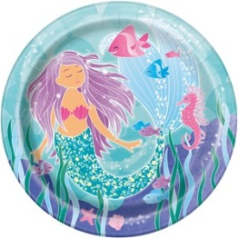 Papperstallrikar 23cm 8p Mermaid party -