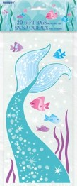 Cellofanpåsar 20p Mermaid party -