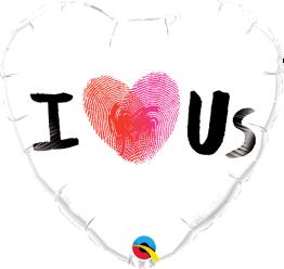 Folieballong 45cm I love us -