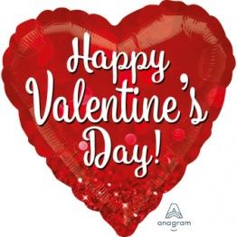 Folieballong 43cm Happy valentine's day -