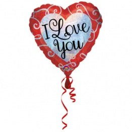 Folieballong 43cm Sparkle I love you -