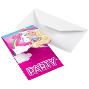Kalasinbjudan 8p Barbie dreamtopia