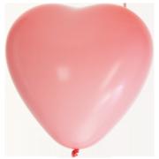 Hjärtballonger 38cm 8p Rosa