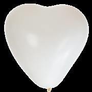 Hjärtballonger 38cm 8p Vita