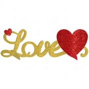 3D Borsdekoration  Love Glitter 35 x 11 cm
