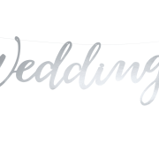 Wedding banner silver 45cm