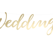 Wedding banner gold 45cm