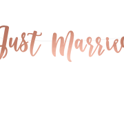 Rose Gold Just Married Banner 20x77cm