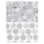 Konfetti cirklar 20mm 63g silver/glitter