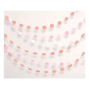 Girlang 2,1m Cirklar Rosé/guld/vit