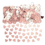 Konfetti 14g Hjärtan rosé