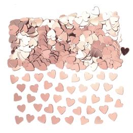 Konfetti 14g Hjärtan rosé -