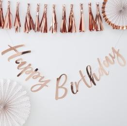 Banner 1,5m Rosé Happy birthday -
