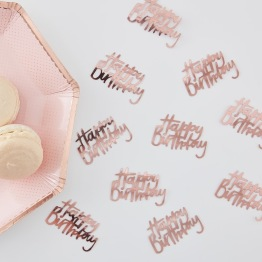 Konfetti 14g Rosé Happy birthday -