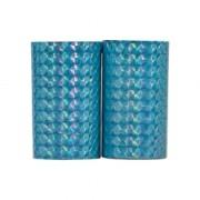 Serpentin holografisk ljusblå