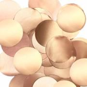 Konfetti folie 14g roseguld 25mm diameter.