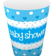 Pappersmuggar 266ml 8p Blå baby shower