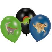 Ballonger 27,5cm 6p 4-färgstryck Dinosaurier