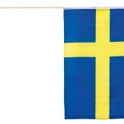 Svenska flaggan 30x40cm på pinne