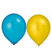 Ballonger 30cm 8p metallic gula/blå