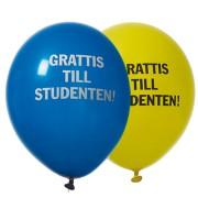 Ballonger 30cm 8p Grattis till studenten