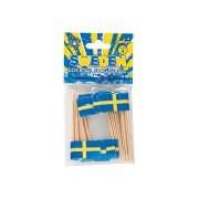 Partypicks 50p Svenska flaggan