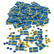 Konfetti 20g svenska flaggan