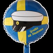 Folieballong 46cm Grattis till studenten
