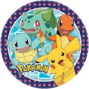 Papperstallrikar 22,8cm 8p Pokémon