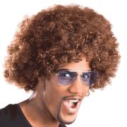 Peruk Afro brun vuxna