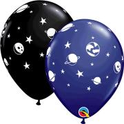 Ballonger 27,94cm 6p Rymden