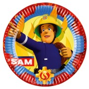 Papperstallrikar 23cm 8p Brandman Sam