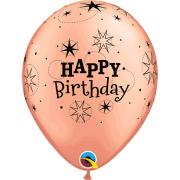 Ballonger 27,94cm 6p Rosé Happy birthday