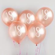 Ballonger 30cm 5p Rosé 18år