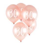 Ballonger 30cm 5p Rosé 30år