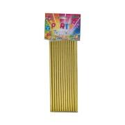 Sugrör av papper 24p Guld