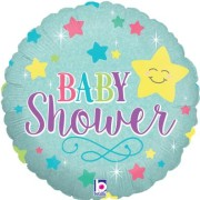 Folieballong 46cm Baby shower star holografisk