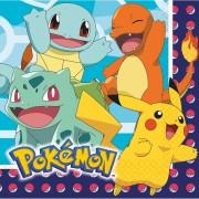 Servetter 33x33cm 16p Pokemon